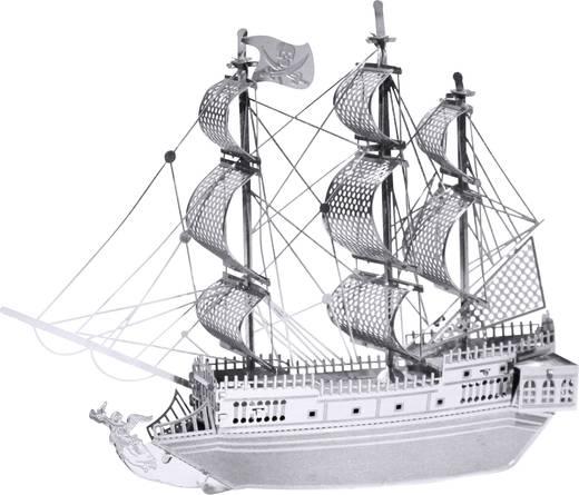 Metal Earth Black Pearl, Fekete Gyöngy vitorláshajó makett, 3D lézervágott fémmodell építőkészlet 502600