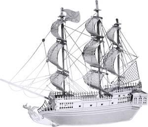 Black Pearl, Fekete Gyöngy vitorláshajó makett, 3D lézervágott fémmodell építőkészlet, Metal Earth  502600 Metal Earth