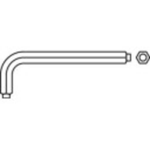 Hatlapfejű kulcs gömbfejjel, hajlított TOOLCRAFT 8 mm