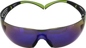 3M SecureFit 400 UU001467875 Védőszemüveg Tükrös Fekete, Zöld 3M