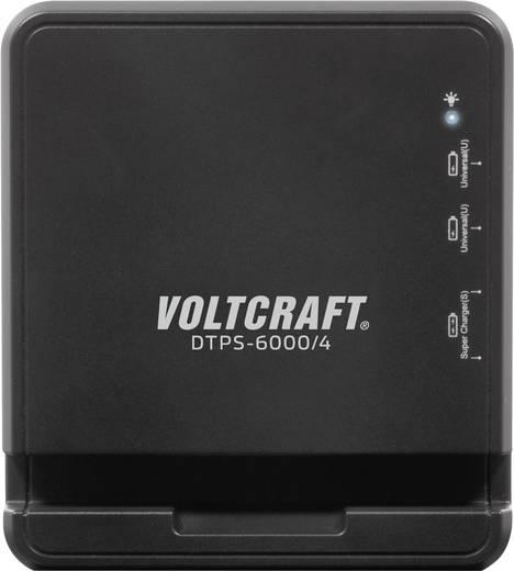 Hálózati USB töltő adapter, 4 részes aljzattal max.6A Voltcraft DTPS-6000/4