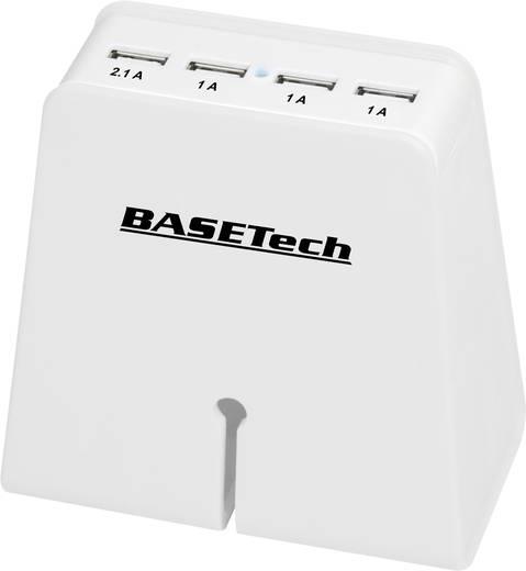USB-s töltőkészülék Aljzat dugó Basetech SUC-5100/4 4 x USB Kimeneti áram (max.) 5.1 A