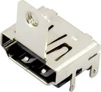 Connfly HDMI csatlakozó Alj, beépíthető, vízszintes 1 db (DS1115-BN0) Connfly