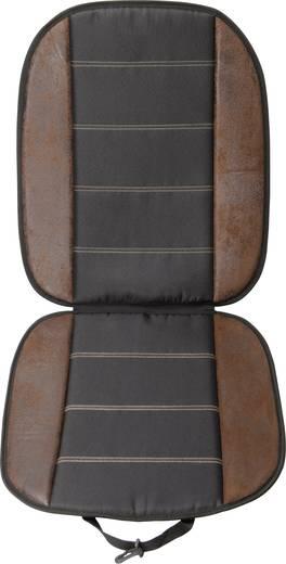 Autós ülésvédő üléshuzat, bőrhatású, fekete, Unitec 75775