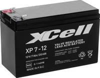 Ólom zselés akku AGM 12 V 7 Ah 151 x 94 x 65 mm XCell XP712F2 (XCEXP712F2) XCell