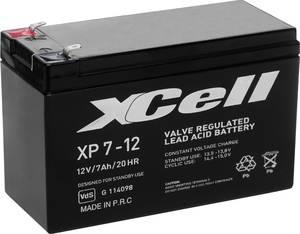Ólom zselés akku AGM 12 V 7 Ah 151 x 94 x 65 mm XCell XP712 XCell