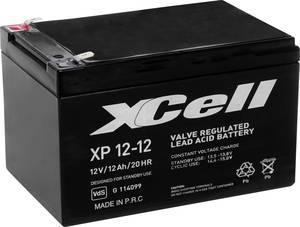 Ólom zselés akku AGM 12 V 12 Ah 151 x 101 x 98 mm XCell XP1212 XCell