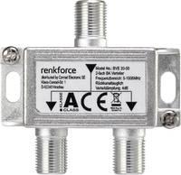 F csatlakozós antenna elosztó, 1 be-/2 kimenet, Renkforce Renkforce
