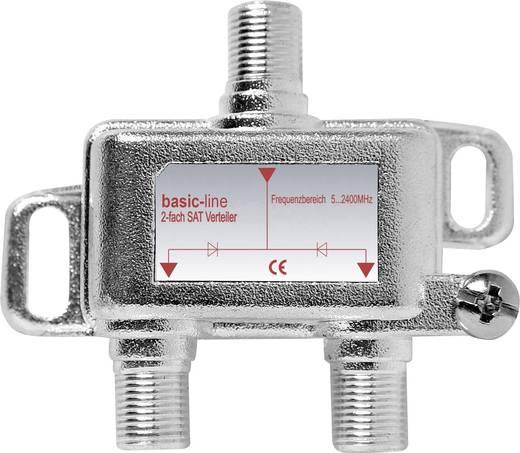F csatlakozós antenna elosztó 5...2200 MHz, 1 be-/2 kimenet, SVE 20-50