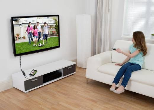 SlimPort (MYDP)/HDMI adapter [1x SlimPort dugó - 1x HDMI dugó] fekete, renkforce