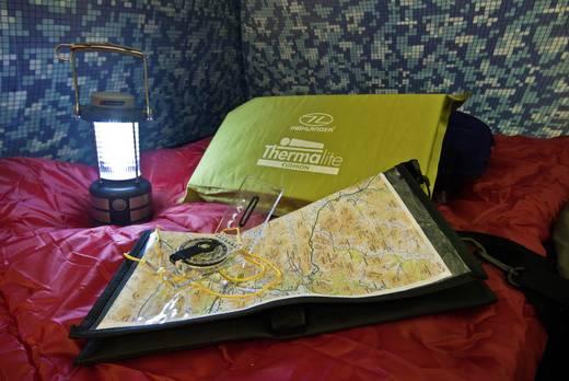 LED-es kemping lámpás távirányítóval, elemes, 340 g, sárga-fekete, Highlander LED-Laterne 24 TOR172
