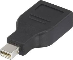 DisplayPort átalakító adapter, 1x mini DisplayPort dugó - 1x DisplayPort aljzat, aranyozott, fekete, Renkforce Renkforce