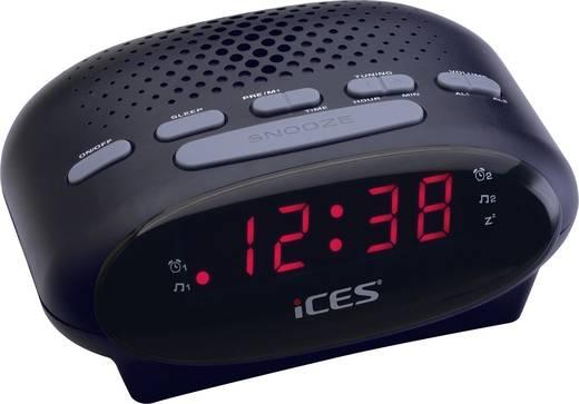 LED-es ébresztőórás rádió, fekete színű Lenco SCD-42