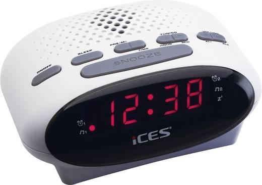 LED-es ébresztőórás rádió, fehér színű Lenco SCD-42