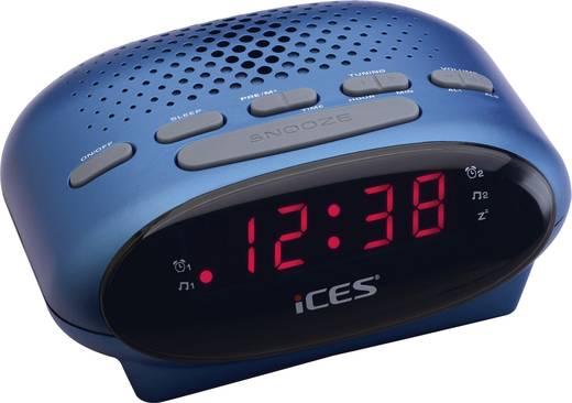 LED-es ébresztőórás rádió, kék színű Lenco SCD-42