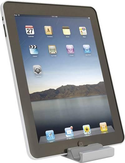 Univerzális tablet- és okostelefontartó, alumínium, beépített beviteli toll tartóval, Renkforce