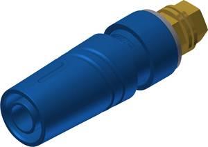 Biztonsági labor alj alj, beépíthető, függőleges, tű átmérő: 4 mm Kék SKS Hirschmann SAB 2600 G M4 Au 1 db SKS Hirschmann