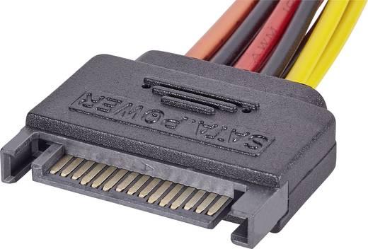 SATA Y tápkábel, 15 cm, 1x SATA dugó, 15 pólus - 2x SATA alj, 15 pólus, renkforce