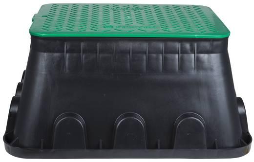 Földbe ásható kábelvédő doboz, fekete/zöld, Heitronic 21042