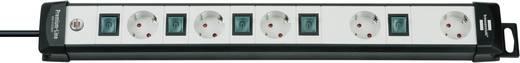 Hálózati elosztó kapcsolóval, 5 részes, szürke/fekete, Brennenstuhl 1951550600