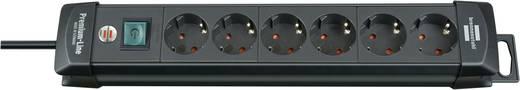 Hálózati elosztó kapcsolóval, 6 részes, fekete, Brennenstuhl 1951160100