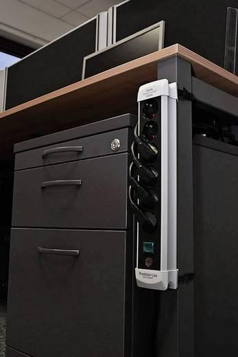 Hálózati elosztó kapcsolóval, 4 részes, fekete, Brennenstuhl 1951140100