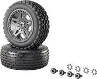 1:10 XS Buggy készre szerelt kerék Multipin 5 duplaküllős, fekete, 1 pár Reely 12036+12618 Reely