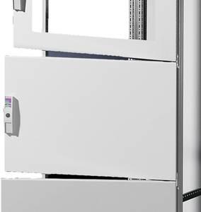 Ház ajtó (Sz x Ma) 400 mm x 800 mm Acéllemez Szürke Rittal SV 9672.148 1 db Rittal
