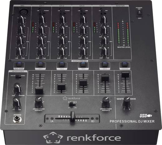DJ keverő renkforce SA-101U USB