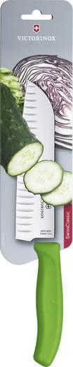 Japán szakácskés, Santoku kés Zöld Victorinox 6.8526.17L4B