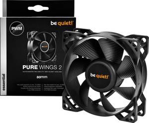 Számítógépház ventilátor 80 x 80 x 25 mm, BeQuiet PURE Wings 2 PWM BeQuiet