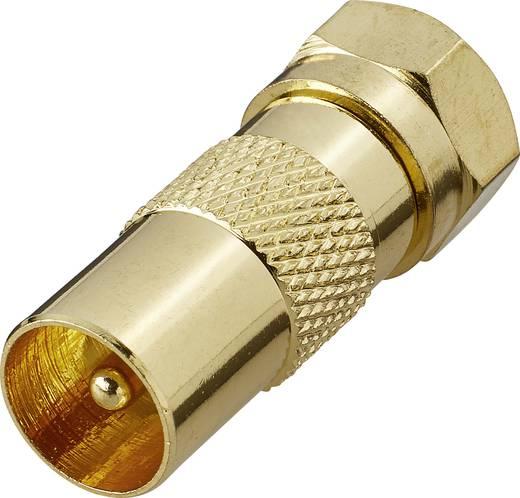 SAT/Antenna adapter, aranyozott, F dugó – koax dugó, renkforce 403369
