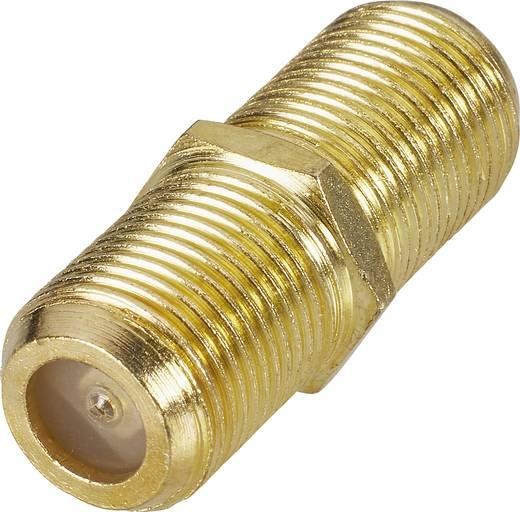 SAT adapter, aranyozott, F alj – F alj, renkforce 403377
