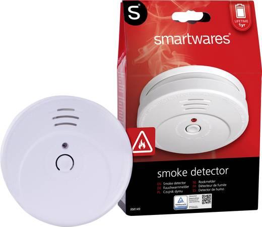Füstérzékelő, elemes füstjelző, 4db-os készlet Smartwares RM149/4