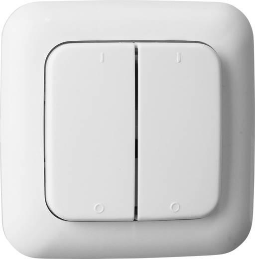 Rádiójel vezérlésű fali kapcsoló, 2 csatornás, fehér színű Smartwares SH5-TSW-B