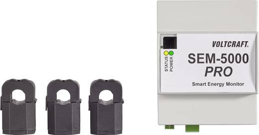 Fogyasztásmérő, 3 fázisú, kalapsínre rakható, PC-re, vagy okos készülékekre Voltcraft Smart Energy Monitor SEM-5000 Pro