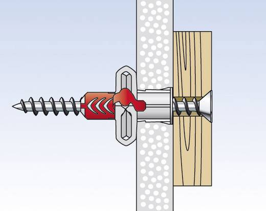 Fischer 555108 DUOPOWER 2 K dübel süllyesztettfejű csavarral 8 mm 50 db
