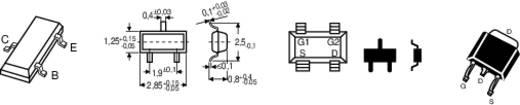 Alacsonyfrekvenciás tranzisztor Infineon BC 847 C npn Ház típus SOT 23 I C (A) 100 mA Emitter gátfeszültség 45 V