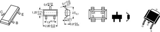 Alacsonyfrekvenciás tranzisztor Infineon BC 857 B pnp Ház típus SOT 23 I C (A) 0,1 A Emitter gátfeszültség 45 V