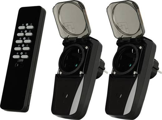 Vezeték nélküli konnektoros kapcsoló készlet, kültéri, 3 részes, max. 30m, Trust 78038 AGDR2-3500R