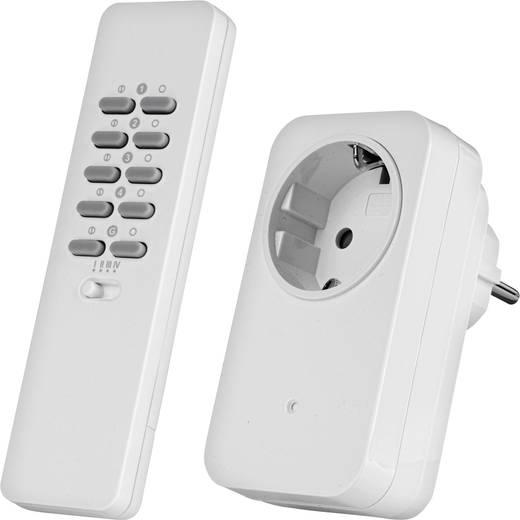 Vezeték nélküli konnektoros kapcsoló készlet, dimmelhető, 2 részes, max. 30m, Trust 78093 AC-200R