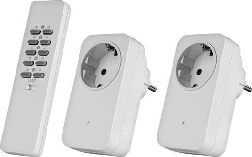 Vezeték nélküli konnektoros kapcsoló készlet, dimmelhető, 3 részes, max. 30m, Trust 78094 AC2-200R