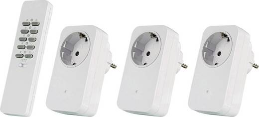 Vezeték nélküli konnektoros kapcsoló készlet, 4 részes, max. 30m, Trust 78004 AC3-1000R