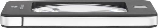 Zsebnagyító, olvasó nagyító lencse, LED világítással 2x/4x-es nagyítású Toolcraft 1400301