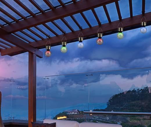 Napelemes kerti lámpa készlet, kültéri LED-es dekor lámpa, függeszthető, RGB, kristály, 3 db, Renkforce 1400507