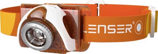 LED-es fejlámpa, elemes, 105 g, narancs, LED Lenser SEO 3