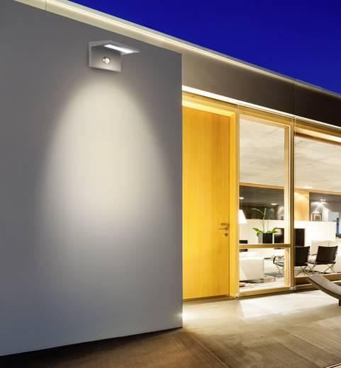 Napelemes kültéri fali lámpa mozgásérzékelővel 2,5 W melegfehér, renkforce Toledo fekete