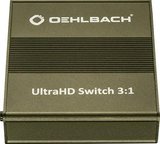 3 port HDMI switch Oehlbach Távirányítóval 4096 x 2160 pixel