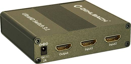 3 port HDMI switch Oehlbach UltraHD Switch 3:1