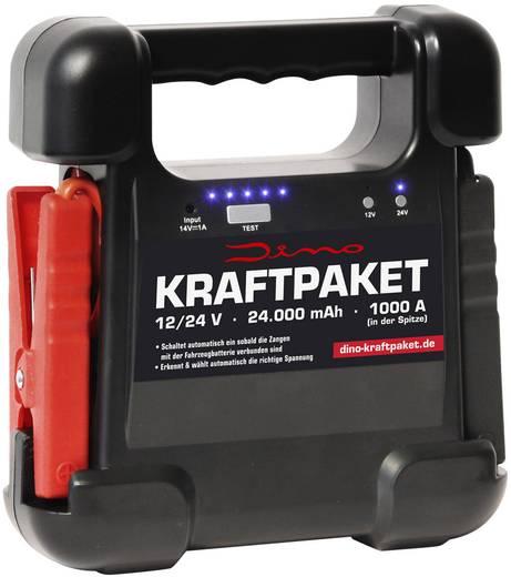 Autós indítássegítő energiaállomás, gyorsindító 12V=500A / 24V=250A DINO KRAFTPAKET 136104